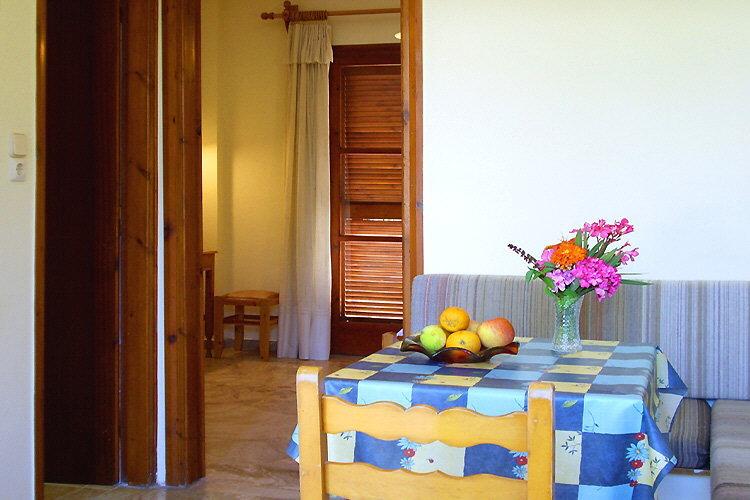 Dining table and bedroom door