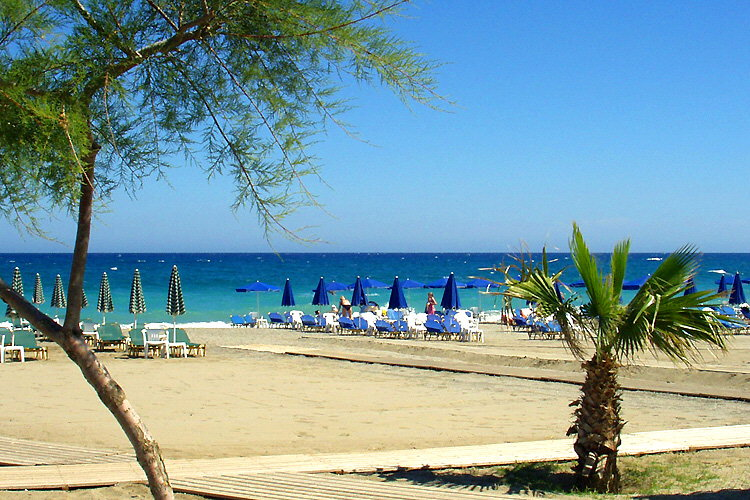 Platanias (Rethymnon): Am Strand